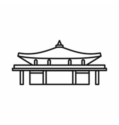 Asian pagoda icon outline style vector