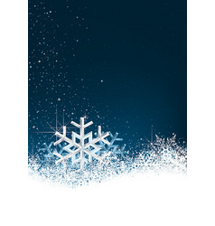 background with snow crystals vector image