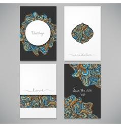 Beautiful card set vector