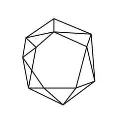 black ink geometric diamond with place for text vector image