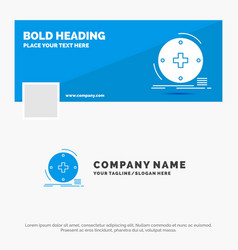 blue business logo template for clinical digital vector image