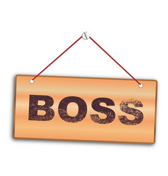boss sign vector image