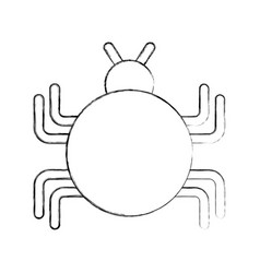 Bug infection virus icon vector