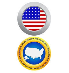 Button as a symbol of america vector