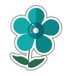 Cartoon jasmine flower decoration image vector