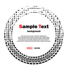 Circle dotted tire track vector