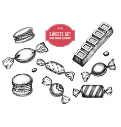 Collection hand drawn black and white vector