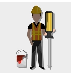 construction worker design vector image