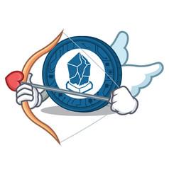 Cupid lisk coin character cartoon vector