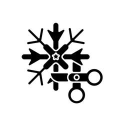 diy snowflakes black glyph icon vector image