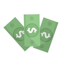 Dollar icon flat design Money dollars isolated vector