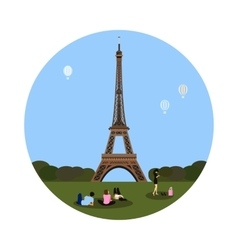 Eiffel tower icon Paris sign vector