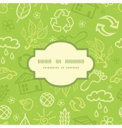 Environmental frame seamless pattern background vector