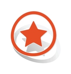 Favorite sign sticker orange vector image