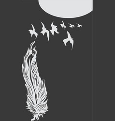 Feather art vector