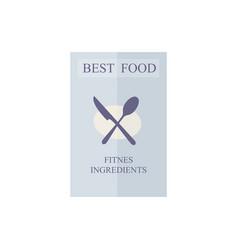flyer best food vector image
