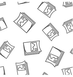flyer leaflet icon seamless pattern background vector image