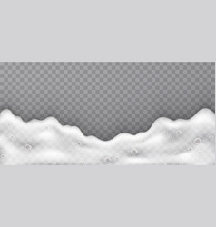 foam with soap bubbles top view stream white vector image