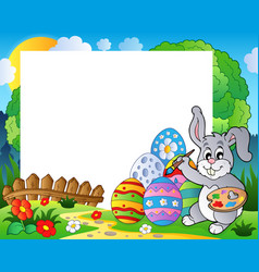 Frame with easter bunny theme 6 vector