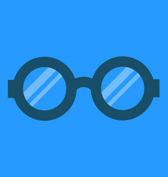 glasses for eyes and good vision looking far vector image