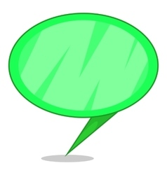 Green speech bubble icon cartoon style vector