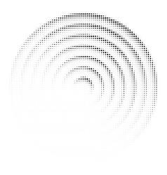 halftone dots circle texture vector image