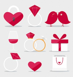 Happy valentines day flat style icon vector image