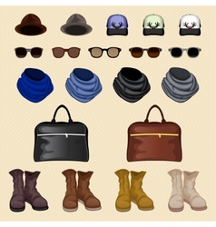 Hipster accessories man vector image