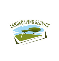 Icon for landscaping service compamy vector