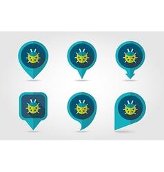 Ladybug flat pin map icon vector
