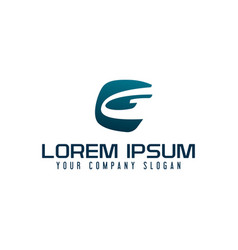 letter g logo business technology design concept vector image