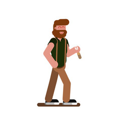 man with bottle vector image