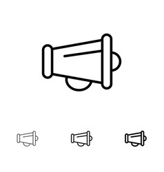 Megaphone announce marketing speaker bold and vector