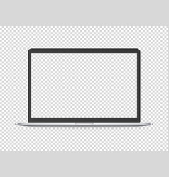 modern laptop mockup object isolated on vector image
