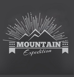 mountains or peak logo emblem outdoor vector image