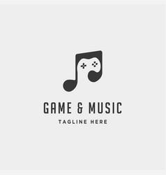 Music game logo design template vector