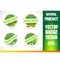 Natural product Badge vector image