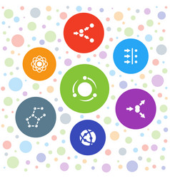 Particle icons vector