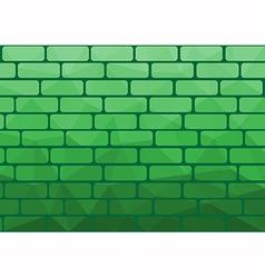 Polygon brick green vector image