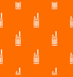 Portable handheld radio pattern seamless vector