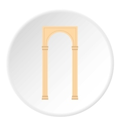 Rectangular arch icon flat style vector image