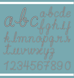 rope alphabet letter collection vector image