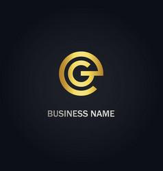 round g company logo vector image