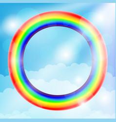 Round rainbow frame vector