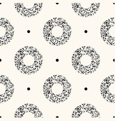 seamless modern flat pattern with dotted vector image