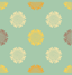 seamless pattern with hand-drawn silhouettes vector image