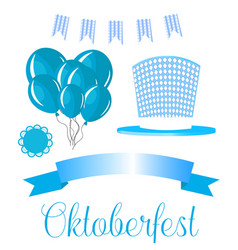 set elements for german oktoberfest beer vector image