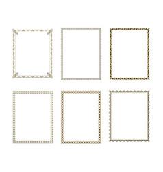 set luxury decorative frame vector image