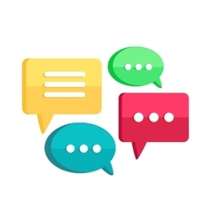 Set of Chat Web Bubbles Isolated Interface Dialog vector