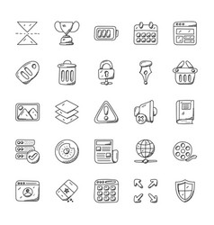 Set of web design and development icons vector
